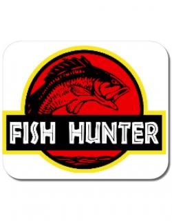 Mousepad personalizat Fish hunter Alb