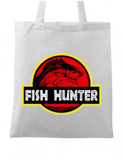 Sacosa din panza Fish hunter Alb