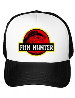 Sapca personalizata Fish hunter Alb