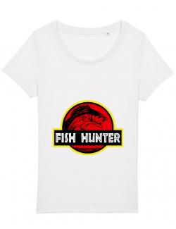 Tricou STANLEY STELLA dama Fish hunter Alb