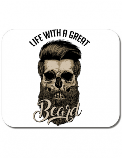 Mousepad personalizat Great beard Alb