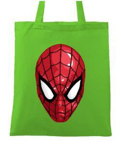 Sacosa din panza Spiderman mask Verde mar