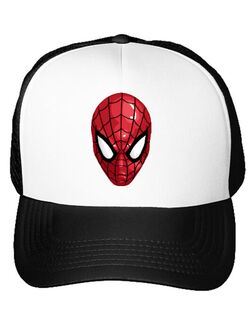 Sapca personalizata Spiderman mask Alb