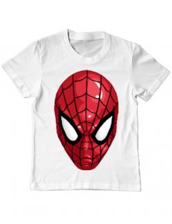 Tricou ADLER copil Spiderman mask Alb