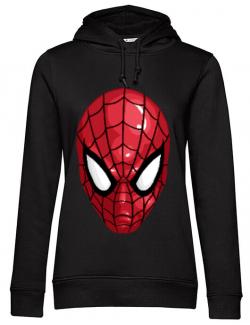 Hoodie dama cu gluga Spiderman mask Negru