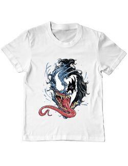 Tricou ADLER copil Venom kiss Alb