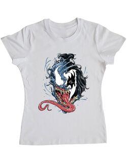 Tricou ADLER dama Venom kiss Alb