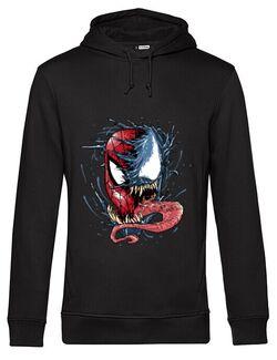 Hoodie barbat cu gluga Venom vs Spiderman Negru