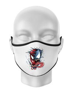 Masca personalizata reutilizabila Venom vs Spiderman Alb
