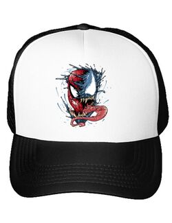 Sapca personalizata Venom vs Spiderman Alb
