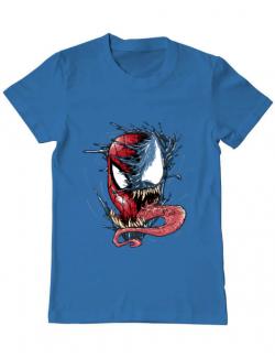 Tricou ADLER barbat Venom vs Spiderman Albastru azuriu
