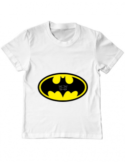 Tricou ADLER copil Six pack Batman Alb