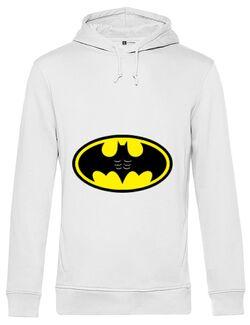 Hoodie barbat cu gluga Six pack Batman Alb