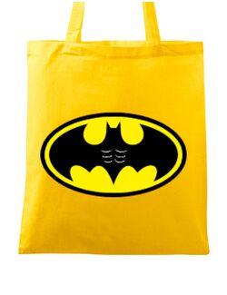 Sacosa din panza Six pack Batman Galben