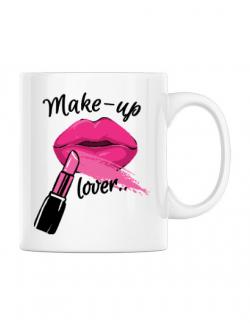 Cana personalizata Make up lover Alb