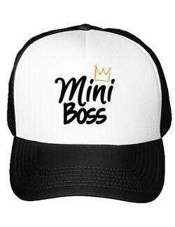 Sapca personalizata Mini boss Alb