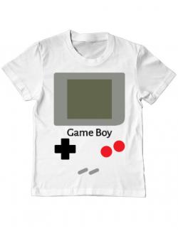 Tricou ADLER copil Game boy Alb