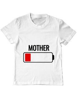 Tricou ADLER copil Mother battery Alb