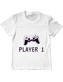 Tricou ADLER copil Player 1 Alb