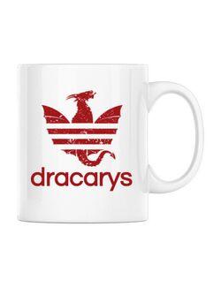 Cana personalizata Dracarys Alb