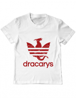 Tricou ADLER copil Dracarys Alb