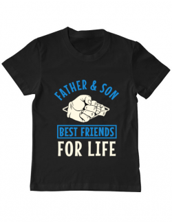 Tricou ADLER copil Father and son Negru