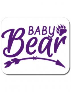 Mousepad personalizat Baby bear Alb