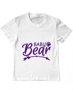 Tricou ADLER copil Baby bear Alb