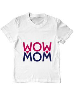 Tricou ADLER copil Wow mom Alb