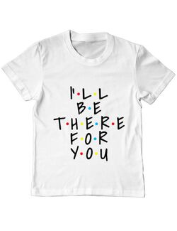 Tricou ADLER copil There for you Alb