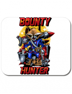 Mousepad personalizat Bounty hunter Alb