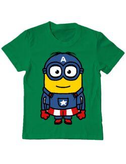 Tricou ADLER copil Captain minion Verde mediu