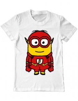 Tricou ADLER barbat Minion flash Alb
