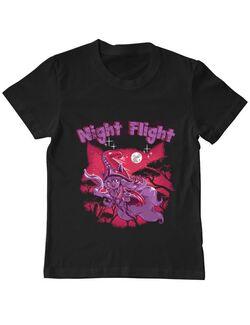 Tricou ADLER copil Night flight Negru