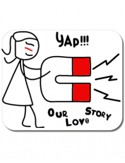 Mousepad personalizat Our love story 1 Alb