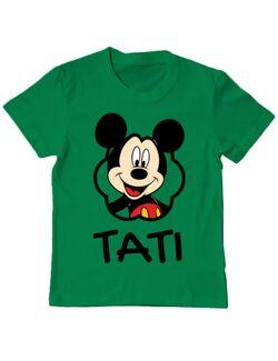 Tricou ADLER copil Mouse daddy Verde mediu