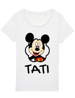 Tricou STANLEY STELLA dama Mouse daddy Alb