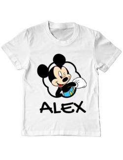 Tricou ADLER copil Mouse son Alb