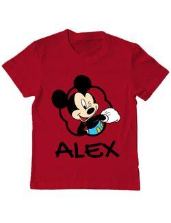 Tricou ADLER copil Mouse son Rosu