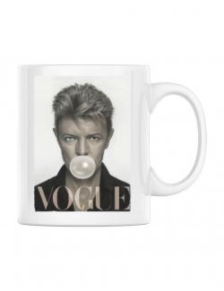 Cana personalizata Bowie Alb
