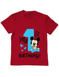 Tricou ADLER copil My first birthday Rosu