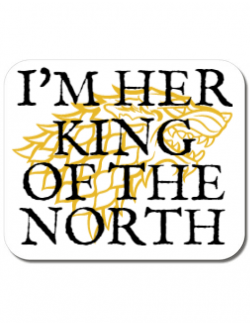 Mousepad personalizat Her king of the north Alb