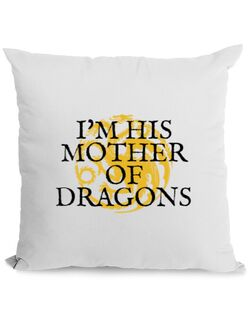 Perna personalizata His mother of dragons Alb