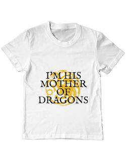 Tricou ADLER copil His mother of dragons Alb
