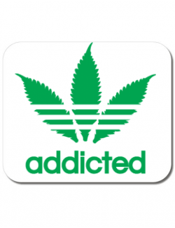 Mousepad personalizat Addicted Alb