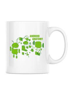 Cana personalizata Android anatomy Alb