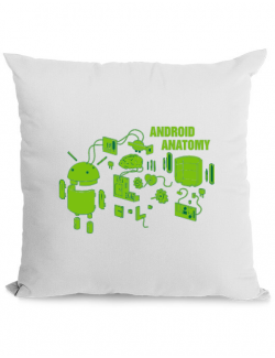 Perna personalizata Android anatomy Alb