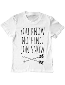 Tricou ADLER copil You know nothing Alb