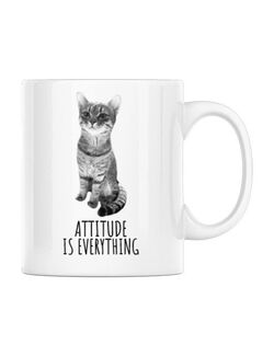 Cana personalizata Attitude is everything Alb