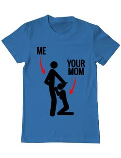 Tricou ADLER barbat Me your mom Albastru azuriu